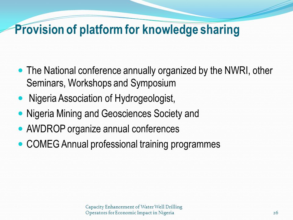 Provision of platform for knowledge sharing
