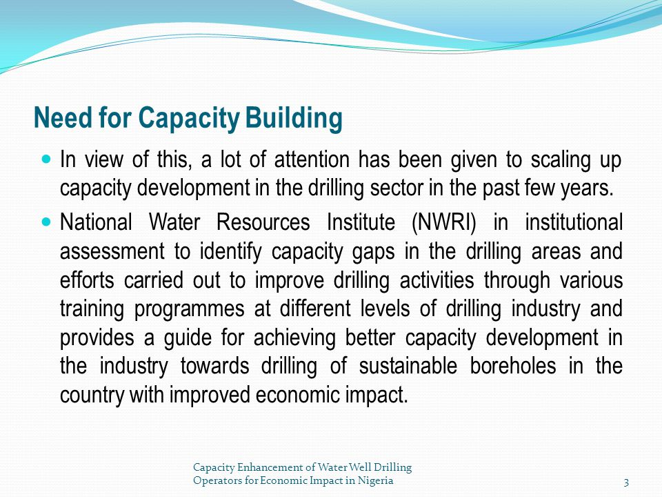 Need for Capacity Building