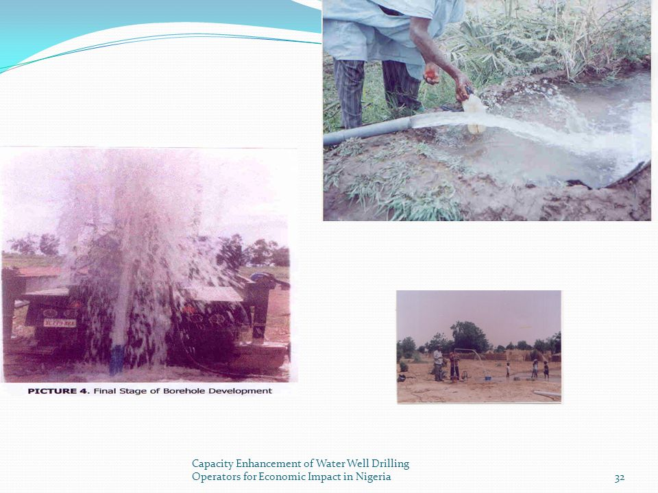 Capacity Enhancement of Water Well Drilling Operators for Economic Impact in Nigeria
