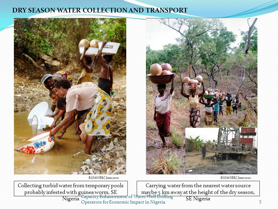 DRY SEASON WATER COLLECTION AND TRANSPORT