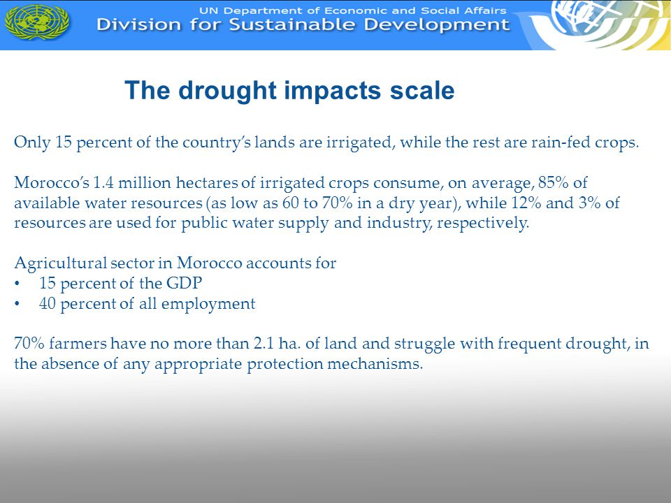 The drought impacts scale