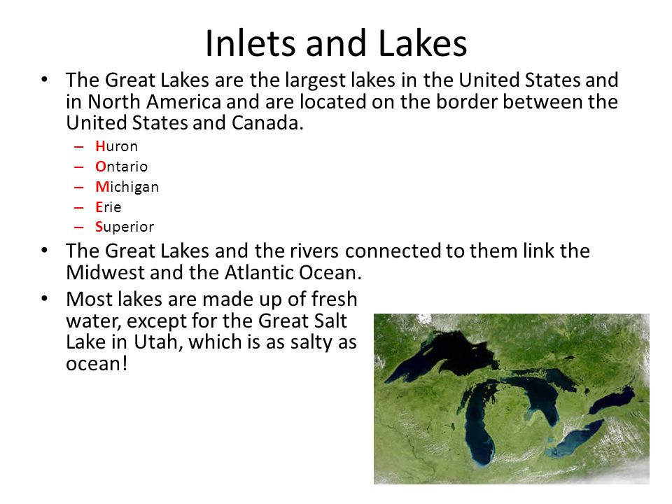 Inlets and Lakes