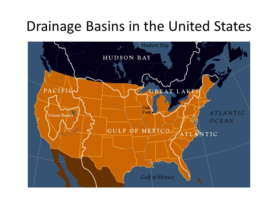 Drainage Basins in the United States