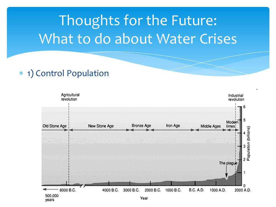 Thoughts for the Future: What to do about Water Crises