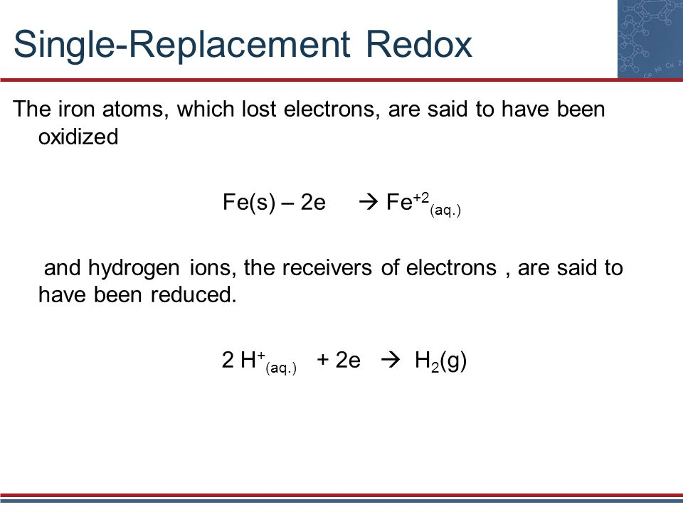 Single-Replacement Redox