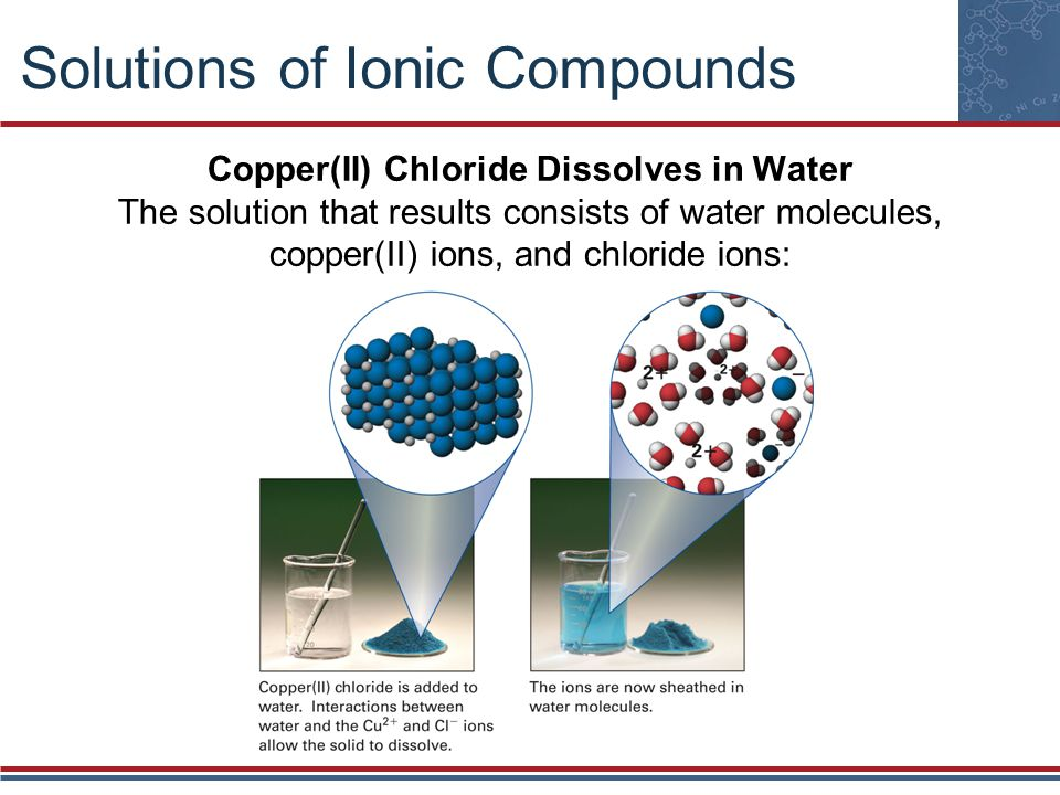 Solutions of Ionic Compounds