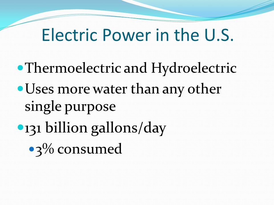 Electric Power in the U.S.