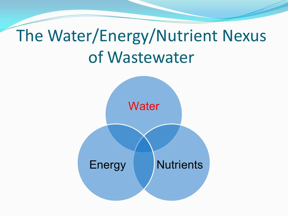 The Water/Energy/Nutrient Nexus of Wastewater