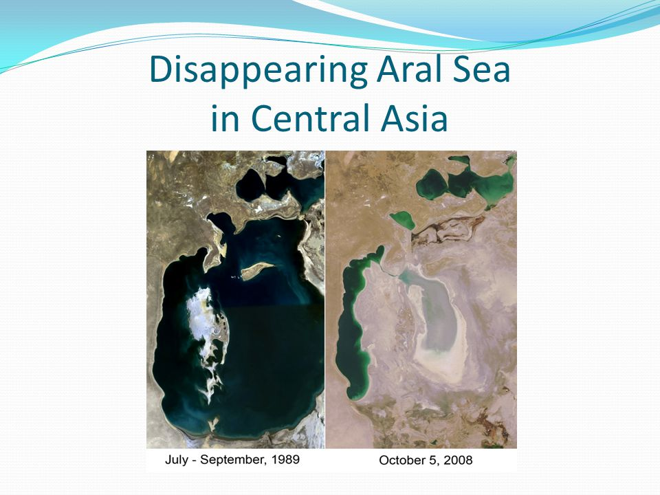 Disappearing Aral Sea in Central Asia