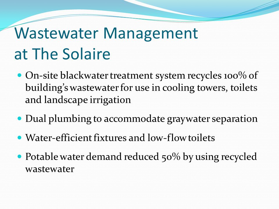 Wastewater Management at The Solaire