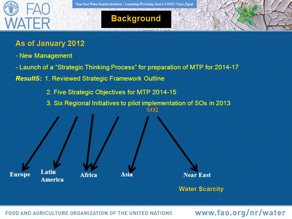Background As of January 2012 - New Management