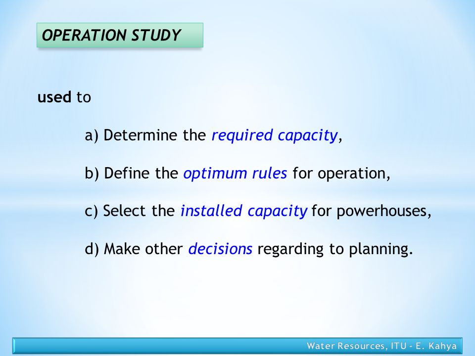 a) Determine the required capacity,