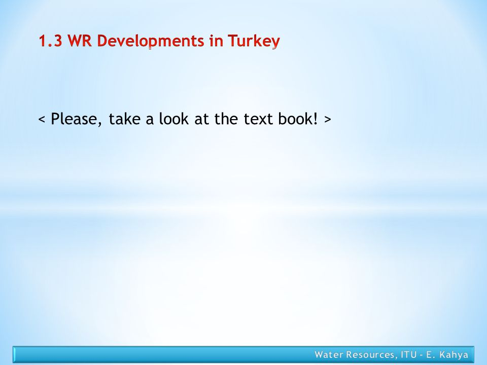 1.3 WR Developments in Turkey