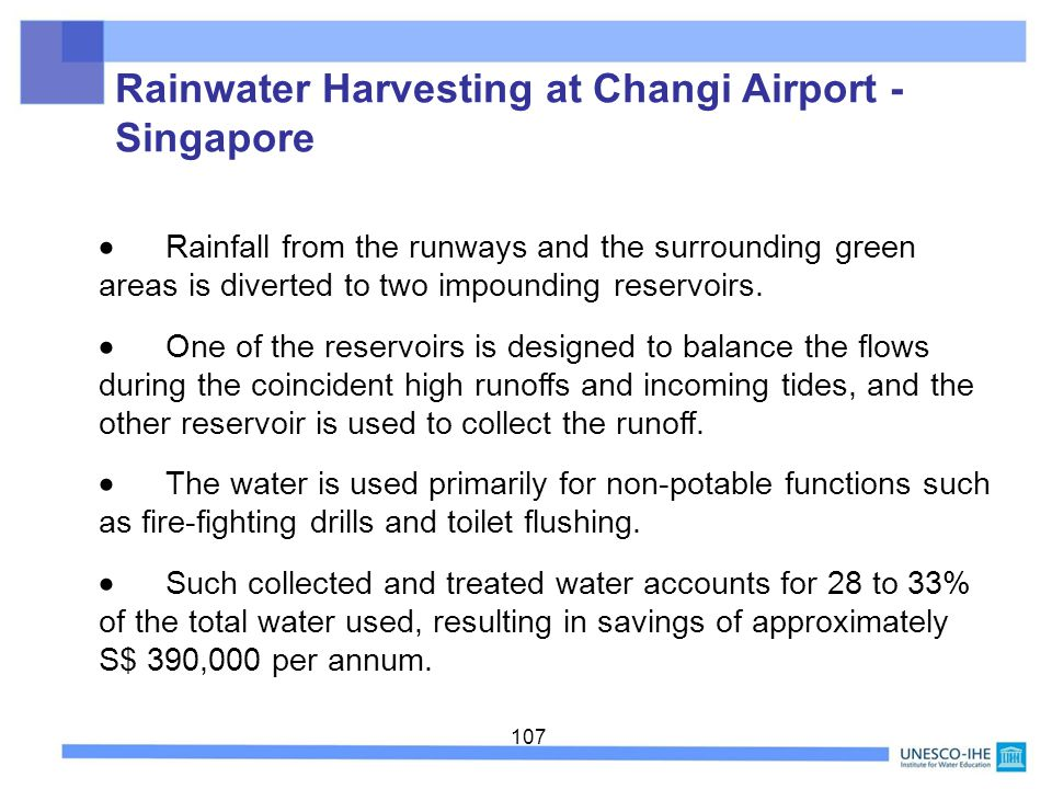 Rainwater Harvesting at Changi Airport - Singapore