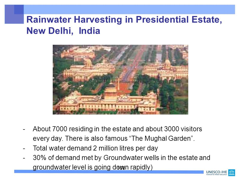 Rainwater Harvesting in Presidential Estate, New Delhi, India