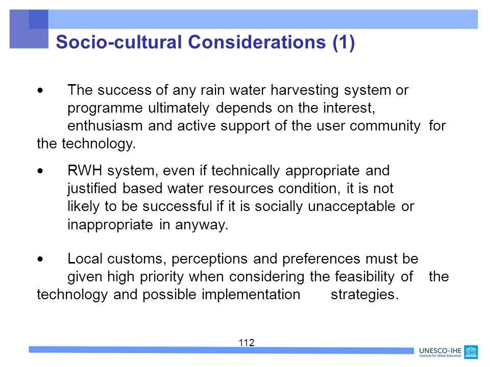 Socio-cultural Considerations (1)