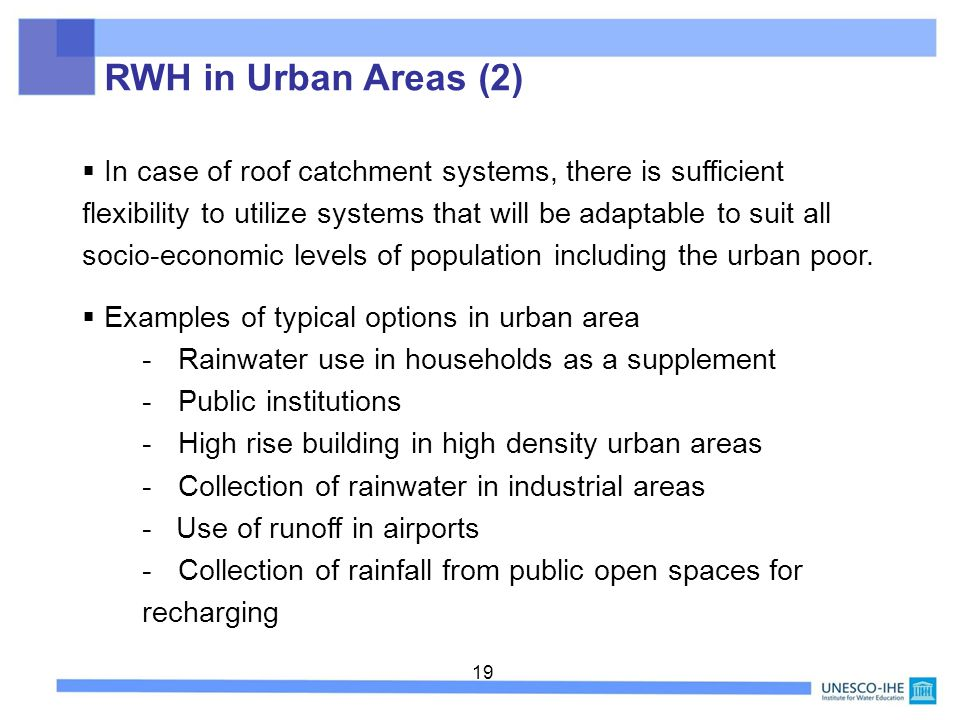 RWH in Urban Areas (2)