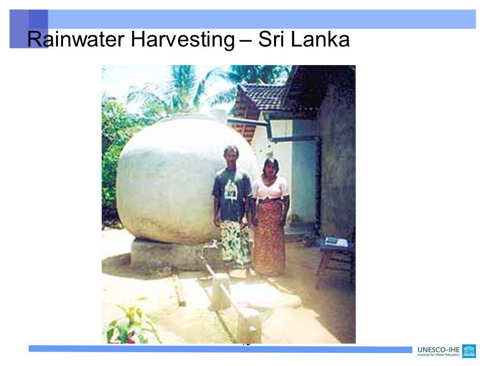 Rainwater Harvesting – Sri Lanka