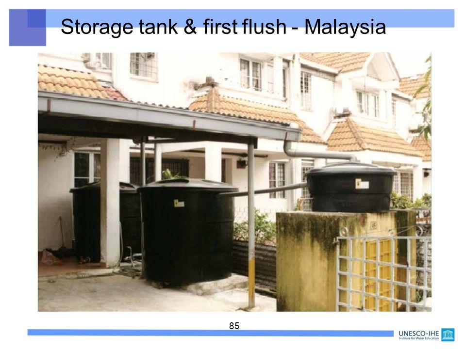 Storage tank & first flush - Malaysia