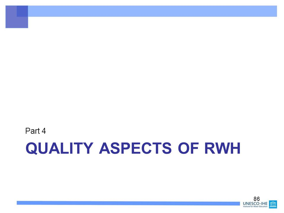 Part 4 Quality Aspects of RWH