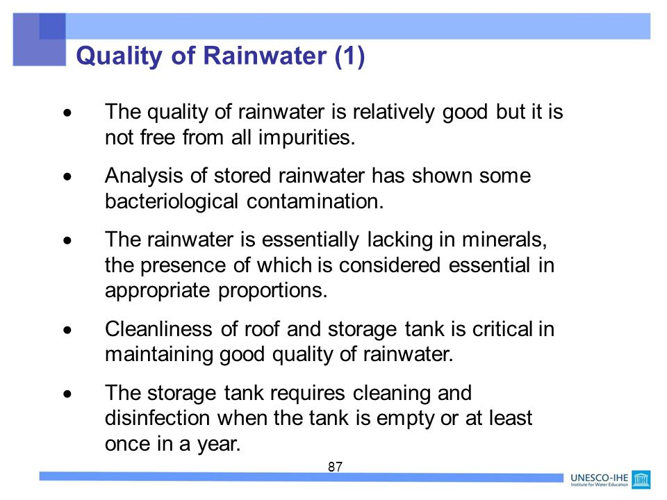 Quality of Rainwater (1)