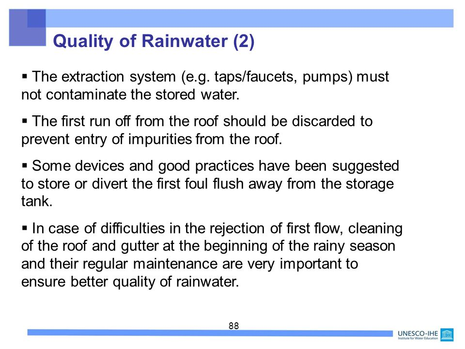 Quality of Rainwater (2)