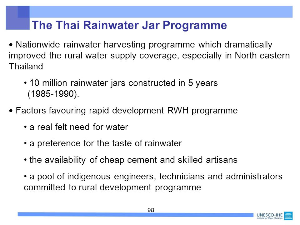 The Thai Rainwater Jar Programme