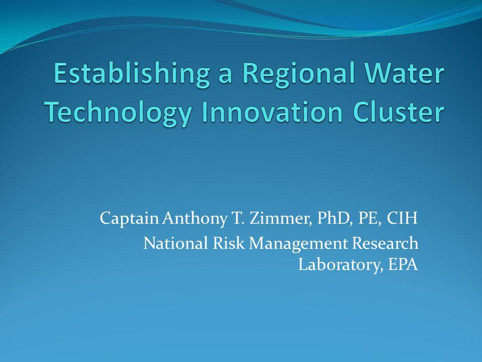 Establishing a Regional Water Technology Innovation Cluster