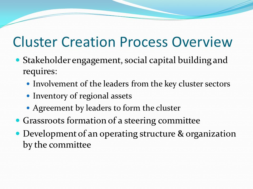 Cluster Creation Process Overview