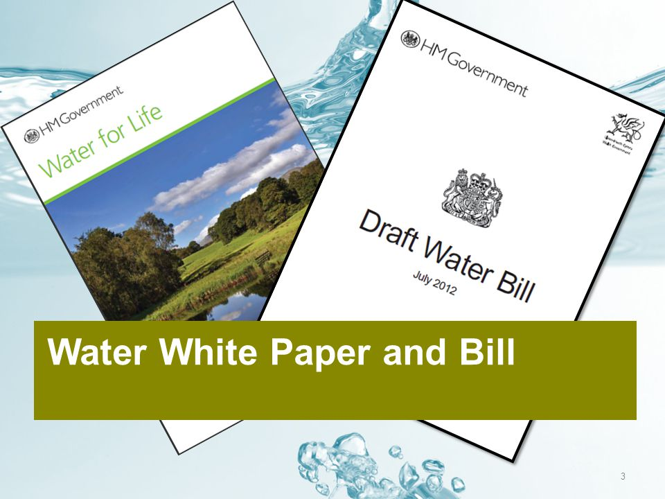 Water White Paper and Bill