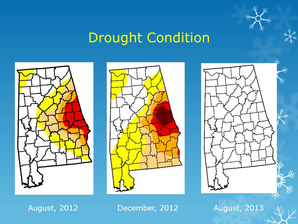 Drought Condition August, 2012 December, 2012 August, 2013