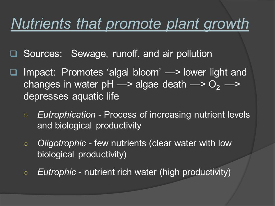 Nutrients that promote plant growth