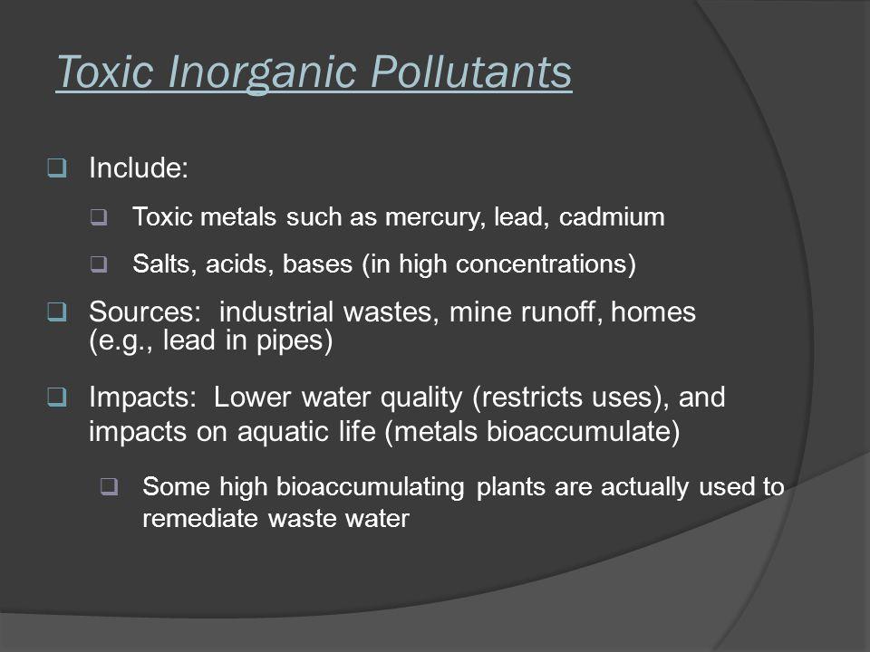 Toxic Inorganic Pollutants