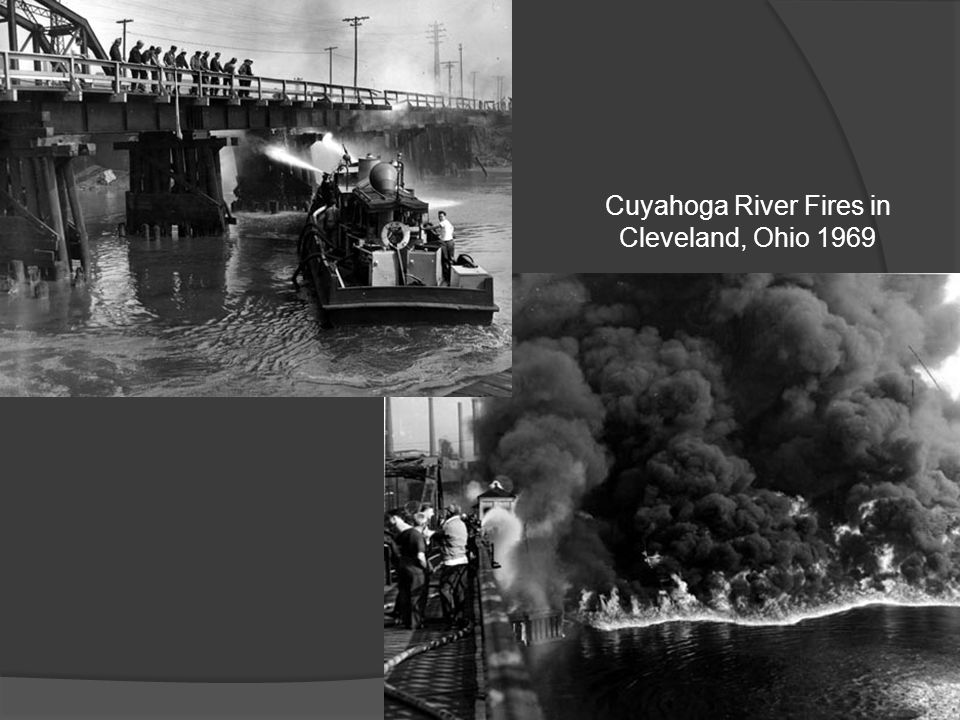 Cuyahoga River Fires in Cleveland, Ohio 1969