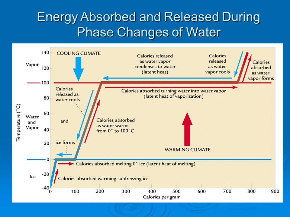 Energy Absorbed and Released During Phase Changes of Water