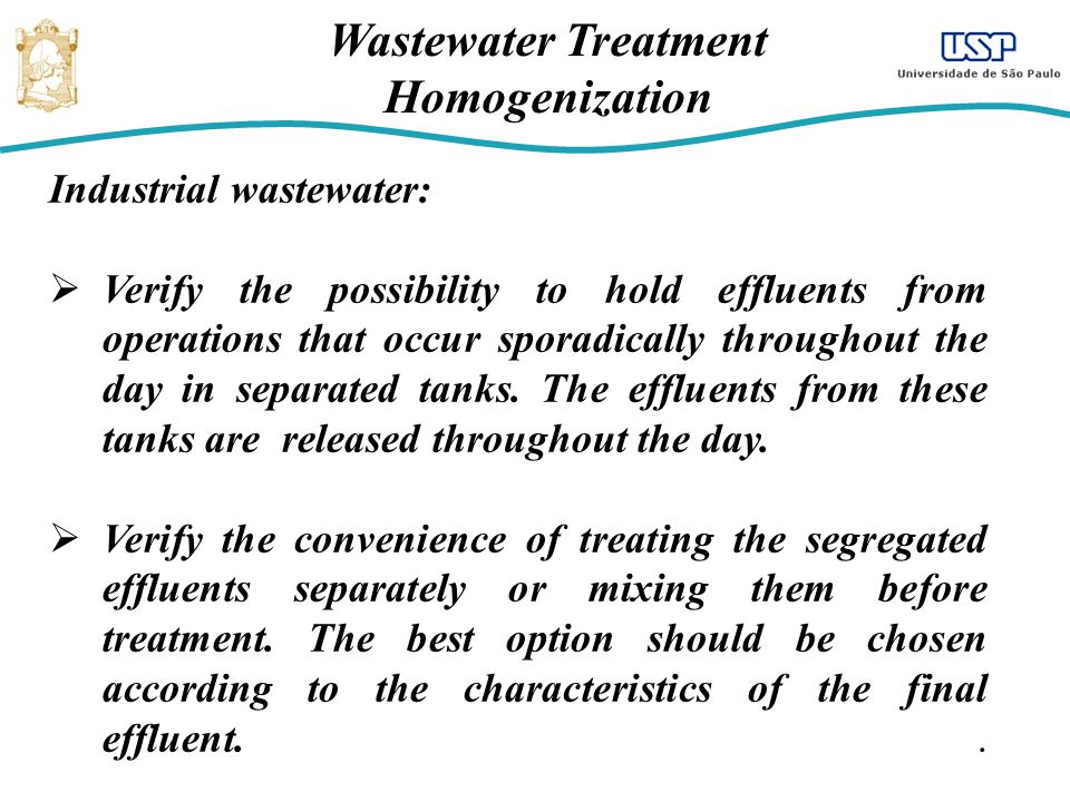 Wastewater Treatment Homogenization