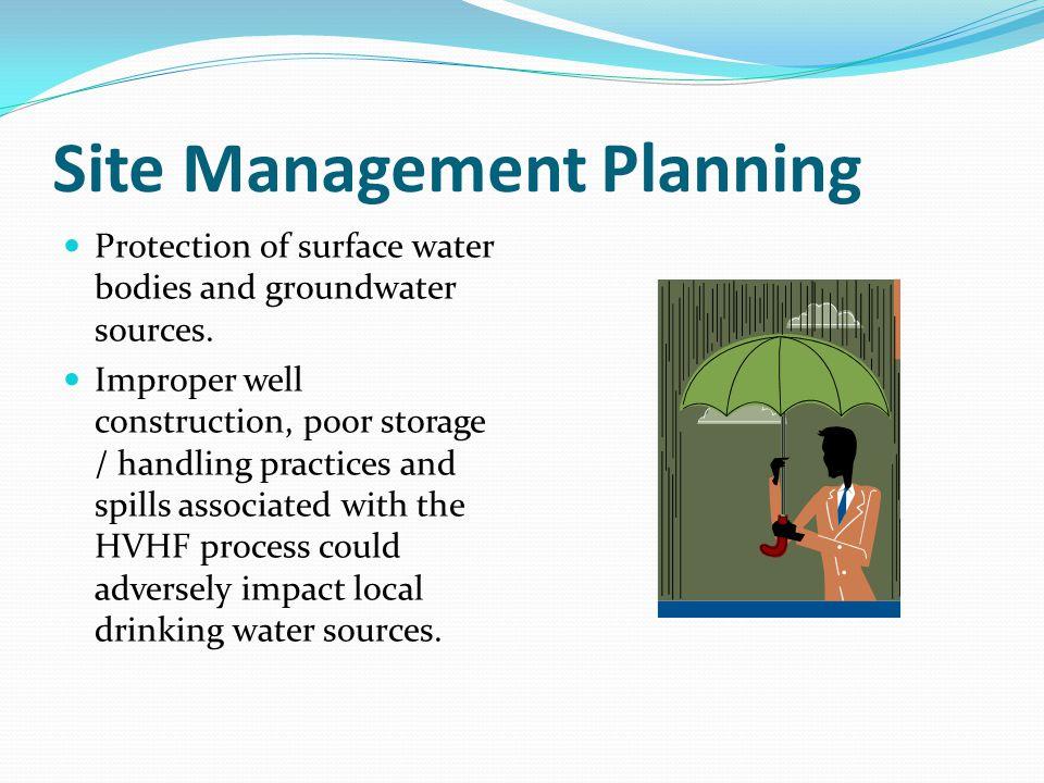 Site Management Planning