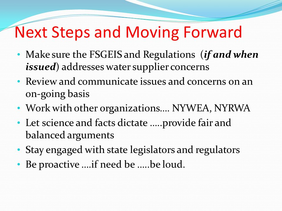 Next Steps and Moving Forward