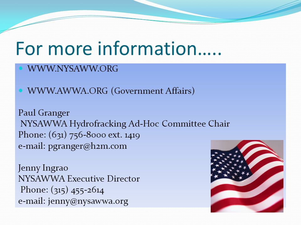 For more information….. WWW.NYSAWW.ORG