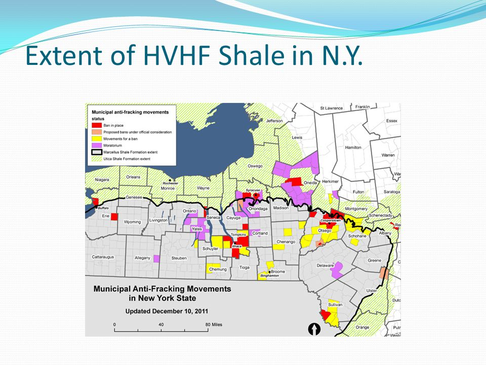 Extent of HVHF Shale in N.Y.