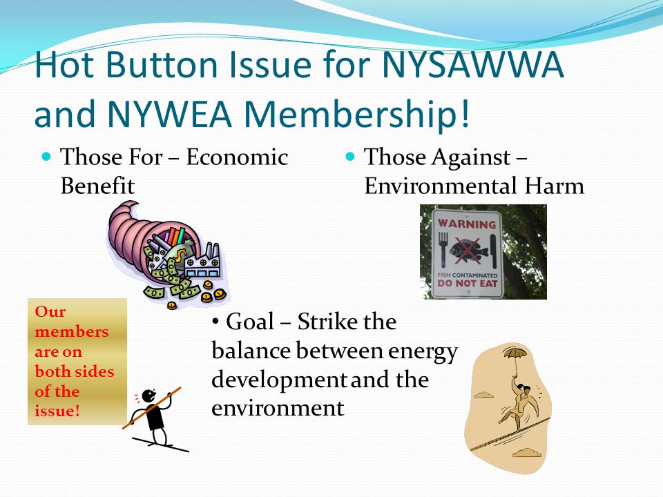 Hot Button Issue for NYSAWWA and NYWEA Membership!