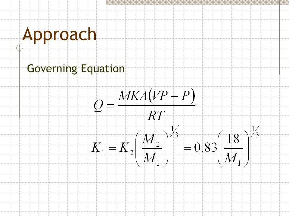 Approach Governing Equation