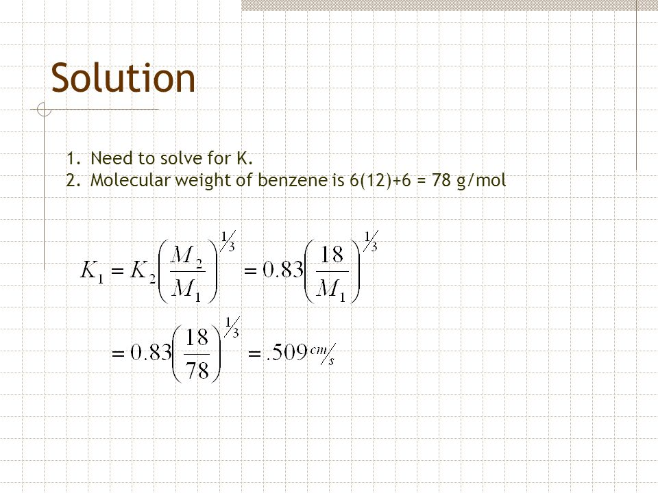 Solution Need to solve for K.