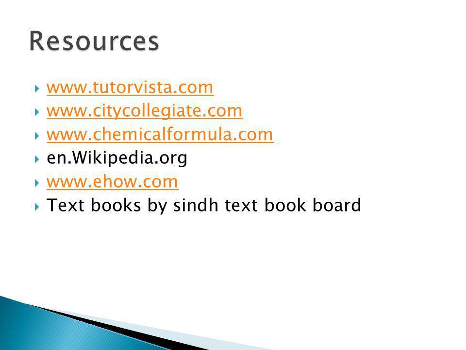 Resources www.tutorvista.com www.citycollegiate.com