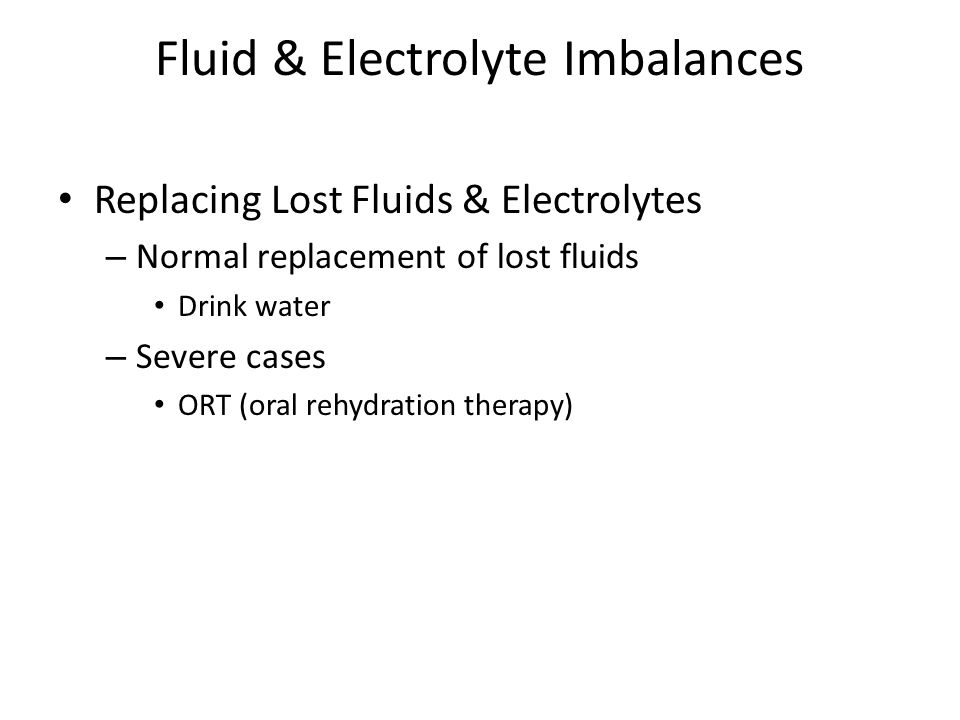 Fluid & Electrolyte Imbalances