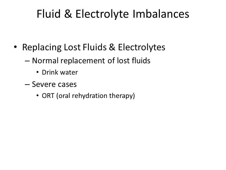 Fluid & Electrolyte Imbalances