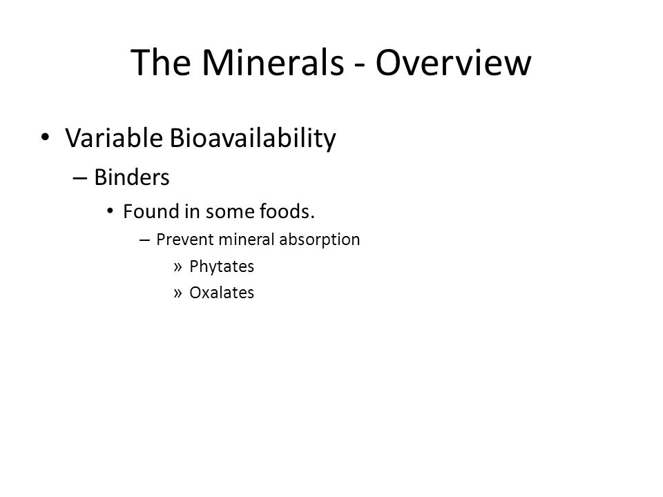 The Minerals - Overview