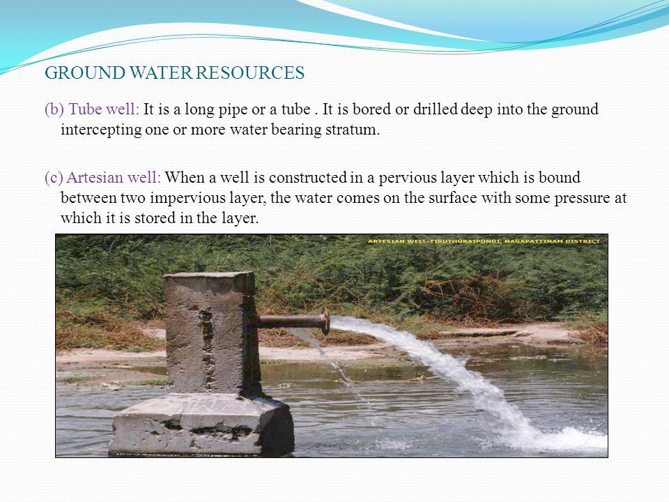 GROUND WATER RESOURCES