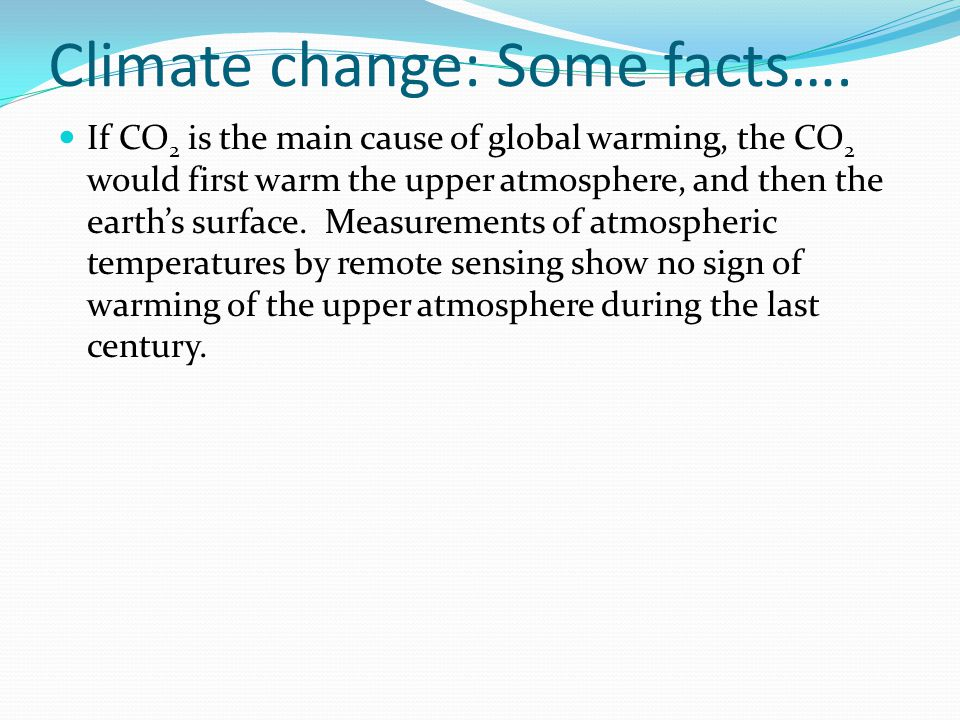 Climate change: Some facts….