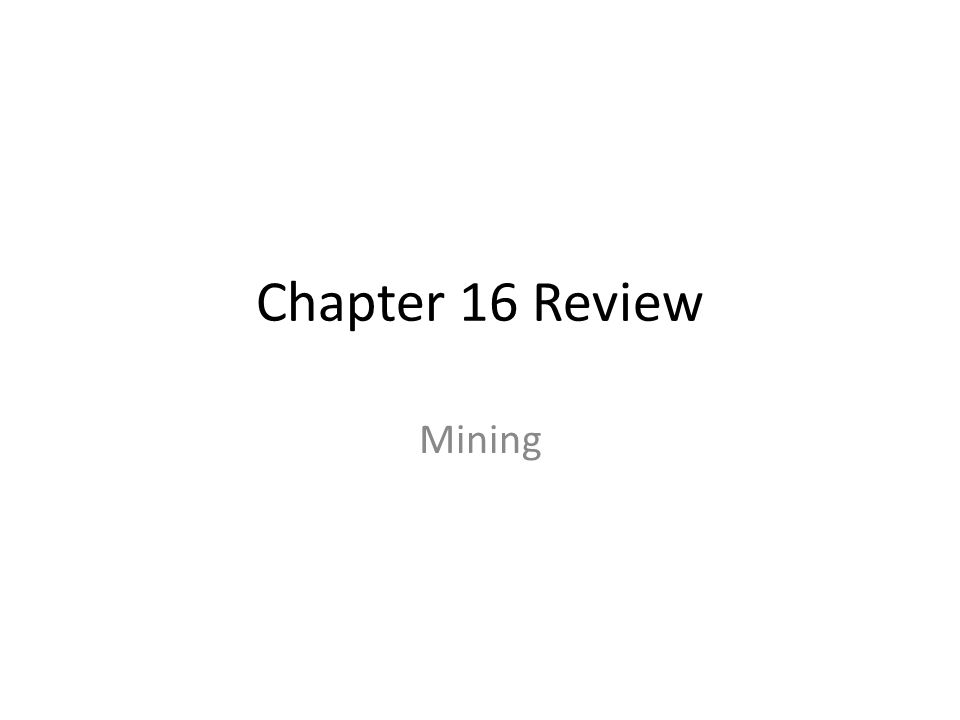 Chapter 16 Review Mining